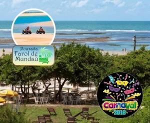 carnaval na pousada farol de mundau na praia com hospedagem para casal e cafe da manha com desconto no barato de fortaleza compras coletivas
