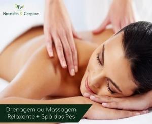 drenagem ou massagem relaxante com spa dos pes na nutriclin corpore oferta no barato de fortaleza compras coletivas