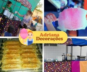 festa infantil barraquinhas de crepes pipocas e algodoes doces da adriana decoracoes e brinquedos com desconto no barato de fortaleza compras coletivas