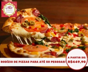 compras coletivas oferta com desconto em rodizio de pizzas com a mix eventos para aniversarios com salgadinhos bebidas no barato de fortaleza