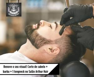 Corte cabelo masculino barba compras coletivas fortaleza em salão beleza oferta com desconto no barato de fortaleza promocao de cerveja longneck na barbearia athur hair