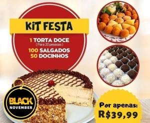 kit festa torta delicia doces salgados desconto oferta barato de fortaleza compras coletivas