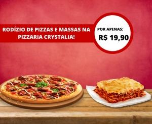 compras coletivas oferta imperdivel com desconto em rodizio de pizzas e massas com diversos sabores variados na pizzaria crystalia no barato de fortaleza
