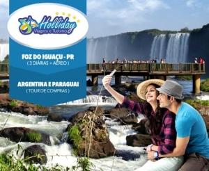 pacote viagem foz do iguacu com city tour argentina paraguai compras coletivas fortaleza na holliday viagens e turismo oferta com desconto no barato de fortalez