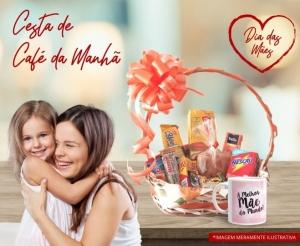 Presente Dia das Maes 2020 Cesta de Cafe da Manha com Brinde Oferta com Desconto Compras Coletivas