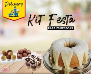 Kit Festa 20 Pessoas com Bolo Doces e Chocolates da Eventos Oferta com Desconto em Fortaleza Compras Coletivas