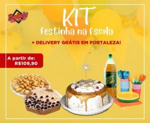 compras coletivas com desconto em kit festa especial com torta torteletes salgadinhos salgados mini dogs pizzas entrega gratis delicia doces barato de fortaleza