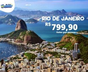Pacote Viagem para Rio de Janeirona Holliday Viagens Turismo com Aereo Hotel com desconto