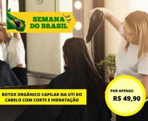 Botox Organico Capilar com corte hidrataçao Compra Coletiva Fortaleza oferta com desconto coletivo promocao de salao beleza