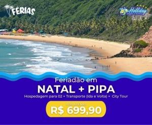Pacote de Viagem Natal Pipa RN com a Holliday Viagens oferta com desconto coletivo